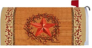Star Wreath 1980MM Magnetic Mailbox Cover Wrap