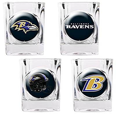 Bsi Products NFL Baltimore Ravens 4 Piece Shot Glass Set