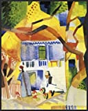 August Macke Poster Art Print and Frame (Plastic) - Patio Of The Country House In St. Germain, 1914 (20 x 16 inches)