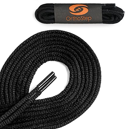 Waxed Very Thin Dress Round Black 27 Inch Shoelaces 2 Pair Pack