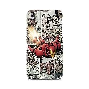 Ebby Iron Man Comic Premium Printed Case For HTC Desire 816