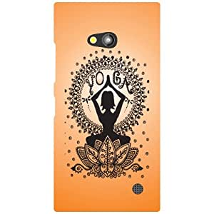 Via flowers Orange Matte Finish Matte Finish Phone Cover For Nokia Lumia 730