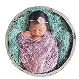 FINEJO Newborn Baby Fur Backdrop Flannel Receiving Blanket 7 Colors