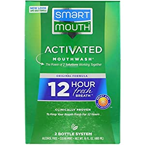 SmartMouth Alcohol-Free Mouthwash, Fresh Mint, 16 Ounce