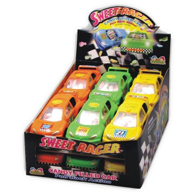 Kids Mania Sweet Racer Toy Car Candy, 12-Count