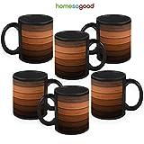 HomeSoGood Stepping Up The Stairs Coffee Mugs (6 Mugs)