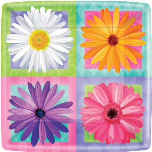In Bloom Paper Lunch Plates
