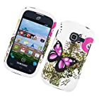 For Straight Talk Net10 Galaxy Centura SCH-S738C Hard Case Two Pink Butterflies