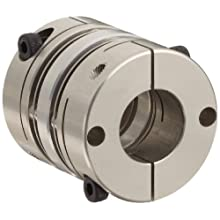 Lovejoy Mini Disc Coupling, MD Type, Clamp Style, Aluminum Hubs and Stainless Steel Discs, Complete Coupling