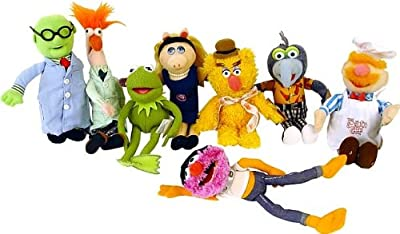 The Muppet Show in Stage Box with 8 Stuffed Muppets