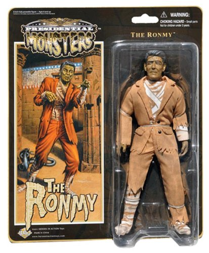 """Ronmy - Presidential Monsters - Ronald Reagan as the Mummy - 8 1/4"""" tall fully poseable action figure with cloth costume"""