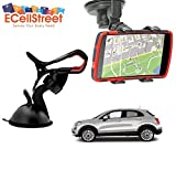 ECellStreet ™ Mobile phone soft tube mount holder with suction cup - Multi-angle 360° Degree Rotating Clip Windshield Dashboard Smartphone Car Mount Holder AutoAccessory