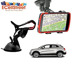 ECellStreet TM Mobile phone soft tube mount holder with suction cup - Multi-angle 360° Degree Rotating Clip Windshield Dashboard Smartphone Car Mount Holder Fiat Linea