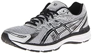 ASICS Men's Gel Excite 2 Running Shoe,White/Black/Silver,9.5 M US