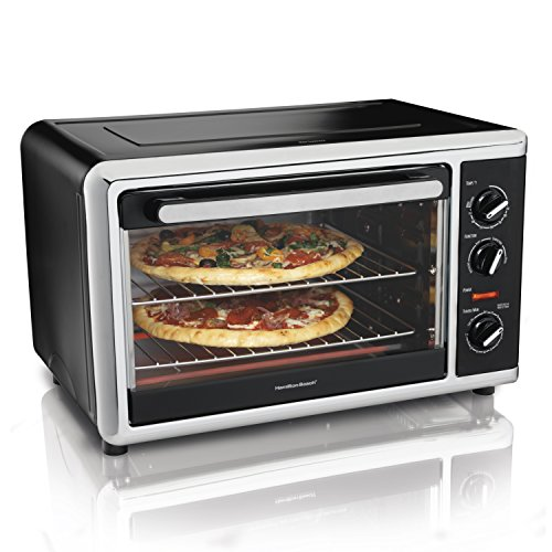 Hamilton Beach 31105HB Countertop Oven with Silver, Black (Convection Oven Broiler Pan compare prices)