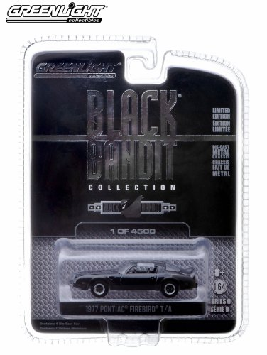 1977 Pontiac Firebird T/A * Black Bandit Collection Series 9 * 2013 Greenlight Collectibles 1:64 Scale Vehicle Die-Cast (Limited Edition / 1 of only 4,500 Pieces)