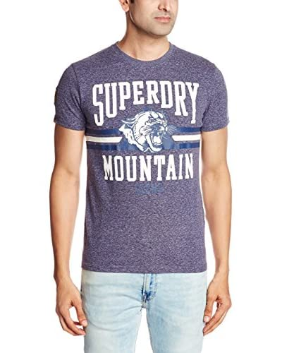 Superdry T-Shirt Mountain Lions blau meliert