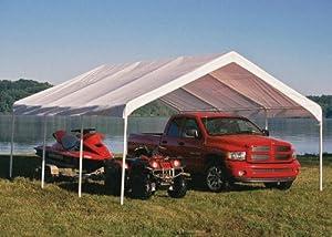 ShelterLogic 18 x 20- Feet Canopy 2- Inch 4- Rib Frame, White Cover by ShelterLogic