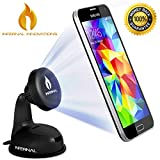 #1 Rated Magnetic Phone Mount | Universal Phone Holder for Windshield & Dashboard | Strong Suction Gel | FREE BONUS GIFT 75mm Adhesive Disk Included |For Samsung Galaxy S5/S4/S3, Note 4/3, iPhone 6 & Plus/5S/5C/4S, Nexus 6/5, HTC One & Many More | Full 36