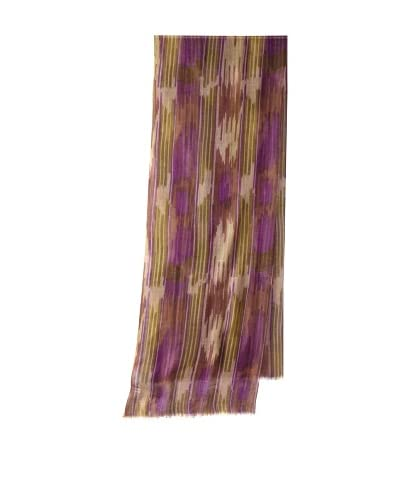 Me & Kashmiere Women's Taki Cashmere Scarf, Taupe/Purple As You See