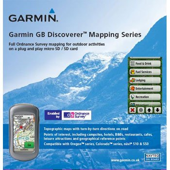 Garmin GB Discoverer 2010 Dartmoor/Exmoor Topographical Map microSD Card