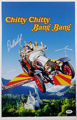 Dick Van Dyke Signed Chitty Chitty Bang Bang 11x17 Canvas Print Photo PSA Y48724