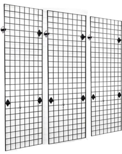 2' x 6' Grid Panel Wall Three Pack Combo with Wall Mount Brackets (Grid Wall Mount Brackets compare prices)
