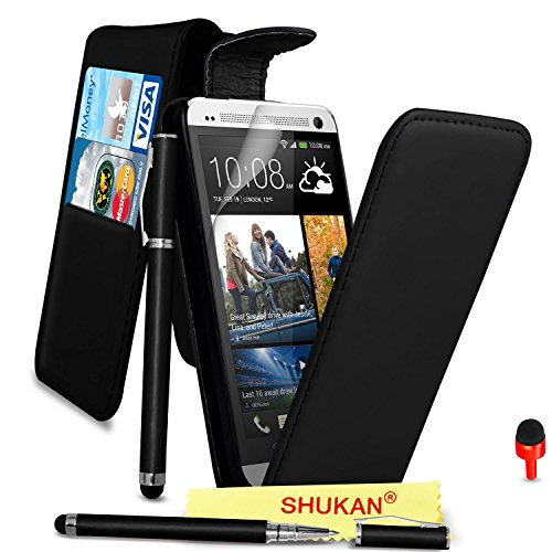 htc-one-m7-premium-leather-black-top-flip-wallet-case-cover-pouch-2-in-1-ball-pen-touch-stylus-pen-r