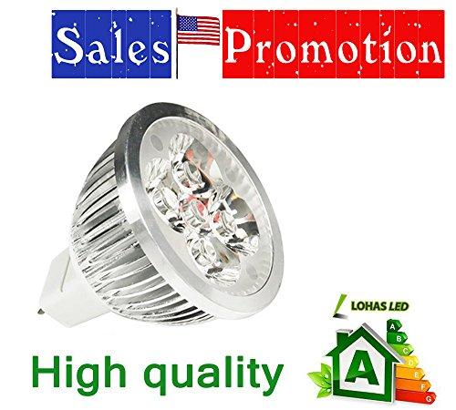 Lohas® Mr16 5W Led Spotlight Ultra Bright High Power Spot Light Lamp With 4Pcs Leds Warm White 12V Dc --30 Degree 700-900Lm
