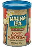 Mauna Loa Macadamias, Honey Roasted, 4.5-Ounce Containers (Pack of 6)