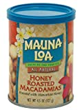 Mauna Loa Macadamia Nuts, Honey Roasted, 4.5-ounce Cans (Pack of 6)