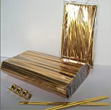 "100pcs 4"" Metallic Gold Twist Ties"