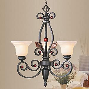 STRUCTURES BRONZE COLLECTION THREE LIGHT CHANDELIER