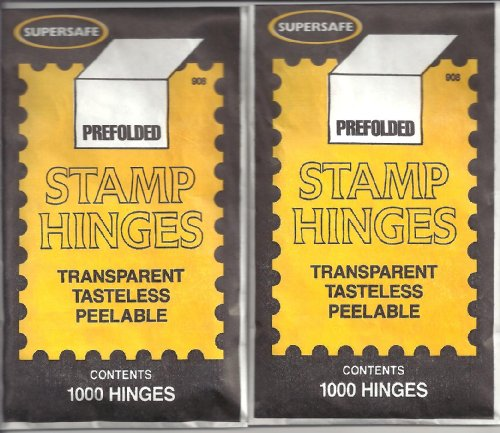 Supersafe Stamp Hinges TWO Packs of 1000 -- Total of 2000 Hinges