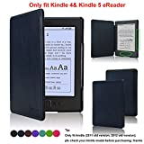 Kindle Case- ACcover Amazon Kindle 5 & Kindle 4 Protective Case - Ultra Slim PU Leather Cover Case for Amazon Kindle 4 / Kindle 5 With Magnet Closure (Only fit kindle 4,not fit kindle 7th Generation Or kindle paperwhite/kindle touch) - Dark Blue