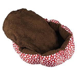 Mikey Store Soft Fleece Pet Dog Puppy Cat Warm Bed House Plush Cozy Nest Mat Pad