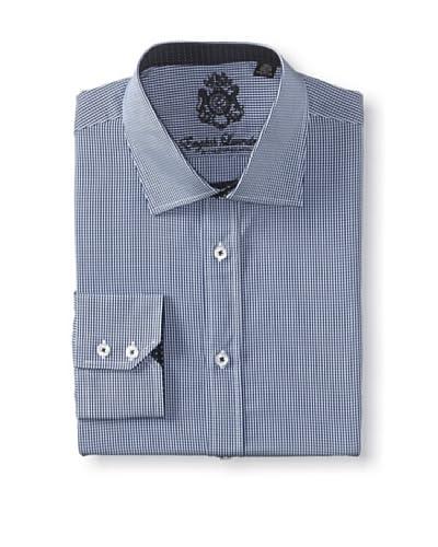 English Laundry Men's Mini Gingham Dress Shirt