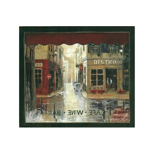 French bistro murals cafe window wallpaper mural for Cafe mural wallpaper