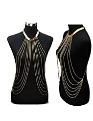 Gold Sexy Body Chain Women Necklaces&Pendants Tassel Alloy Punk Long Necklace 2015 New Designer Female Fashion...