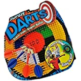 Super Darts Super Fun Super Safe. By Big Time Toys Ages 4 Easy Throw Hit The Bullseye Score Big