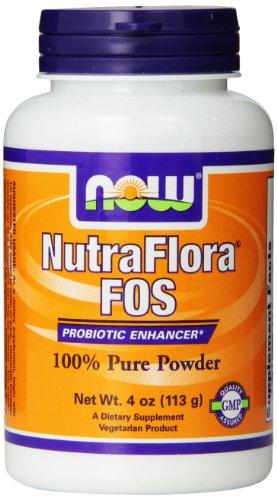 NOW Foods Nutra Flora Fos, 4 Ounce
