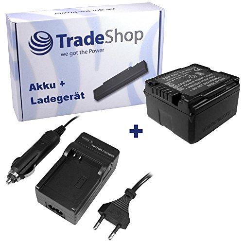 ANGEBOT IM SET: Hochleistungs Kamera Li-Ion Akku + Akku Ladegerät mit Kfz Adapter für Panasonic VDR-D210 VDR-D230 VDR-D310 NV-GS60 NV-GS80 NV-GS85 NV-GS90 NV-GS230 NV-GS320 NV-GS330 ersetzt VBN130