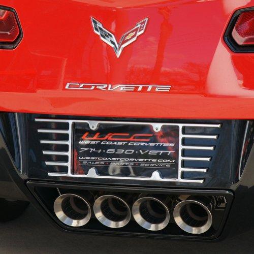 2005 - 2015 C6 & C7 Corvette Billet Open End License Plate Frame (License Plate Louver compare prices)