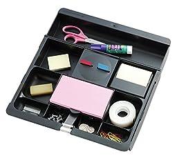 Post-it Desk Drawer Organizer, 10-1/2 x 11-3/4 x 1-5/8-Inches, Black