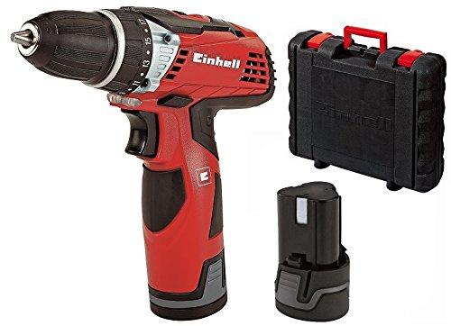Einhell-Akku-Bohrschrauber-TE-CD-12-Li-2x-Lithium-Ionen-Akku-12-V-13-Ah-2-Gang-25-Nm-LED-Licht-Schnellladegert-Koffer