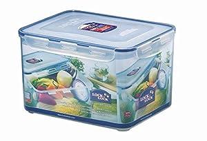 Lock & Lock Frischhaltedose, Vorratsbox, Vorratsdose, 9,0 Liter, rechteckig mit Ablaufgitter, Kunststoff transparent, 295 x 230 x 185 mm