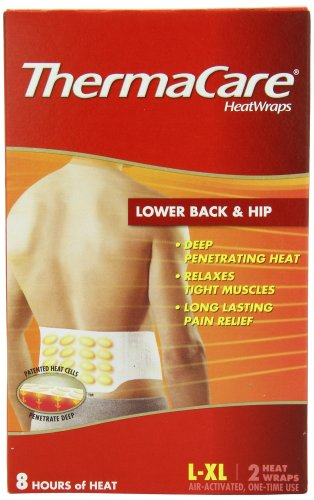 Find Cheap ThermaCare Lower Back & Hip Heat Wraps, Large-XL,  2-Count Boxes (Pack of 3)