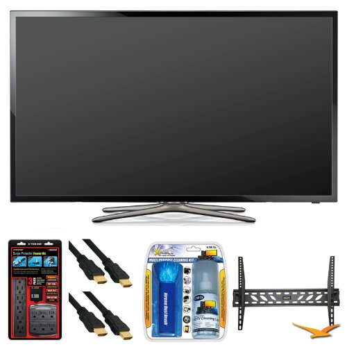 Cheapest Samsung UN50F5500 50″ 60hz 1080p WiFi LED Smart HDTV Wall Mount Bundle – Includes HDTV, Adjustable TV Wall Mount, Surge Protector Power Kit (270 joules protection), 2 6 ft High Speed 3D Ready 120hz Ready 1080p HDMI Cables, and TV Screen Cleaning Kit On Amazon