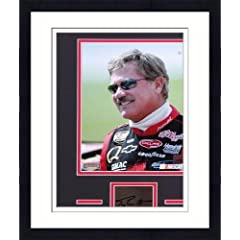 Framed Terry Labonte Matted 8x10 Photograph with Autographed Cut Piece - Memories -... by Sports Memorabilia