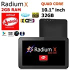 10.1 32GB Android 4.4 KitKat [QUAD CORE] Tablet w/ 2GB RAM, Dual Cameras, HDMI, WiFi Google Play Store, Bluetooth - Radium X